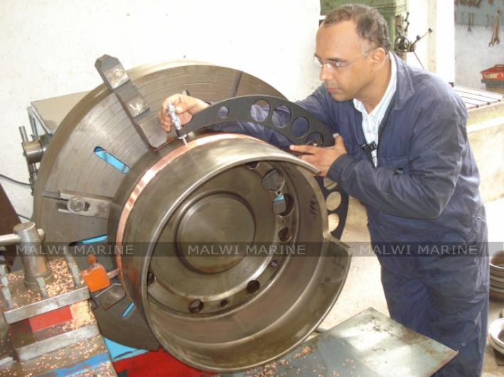 Malwi Marine component inspection