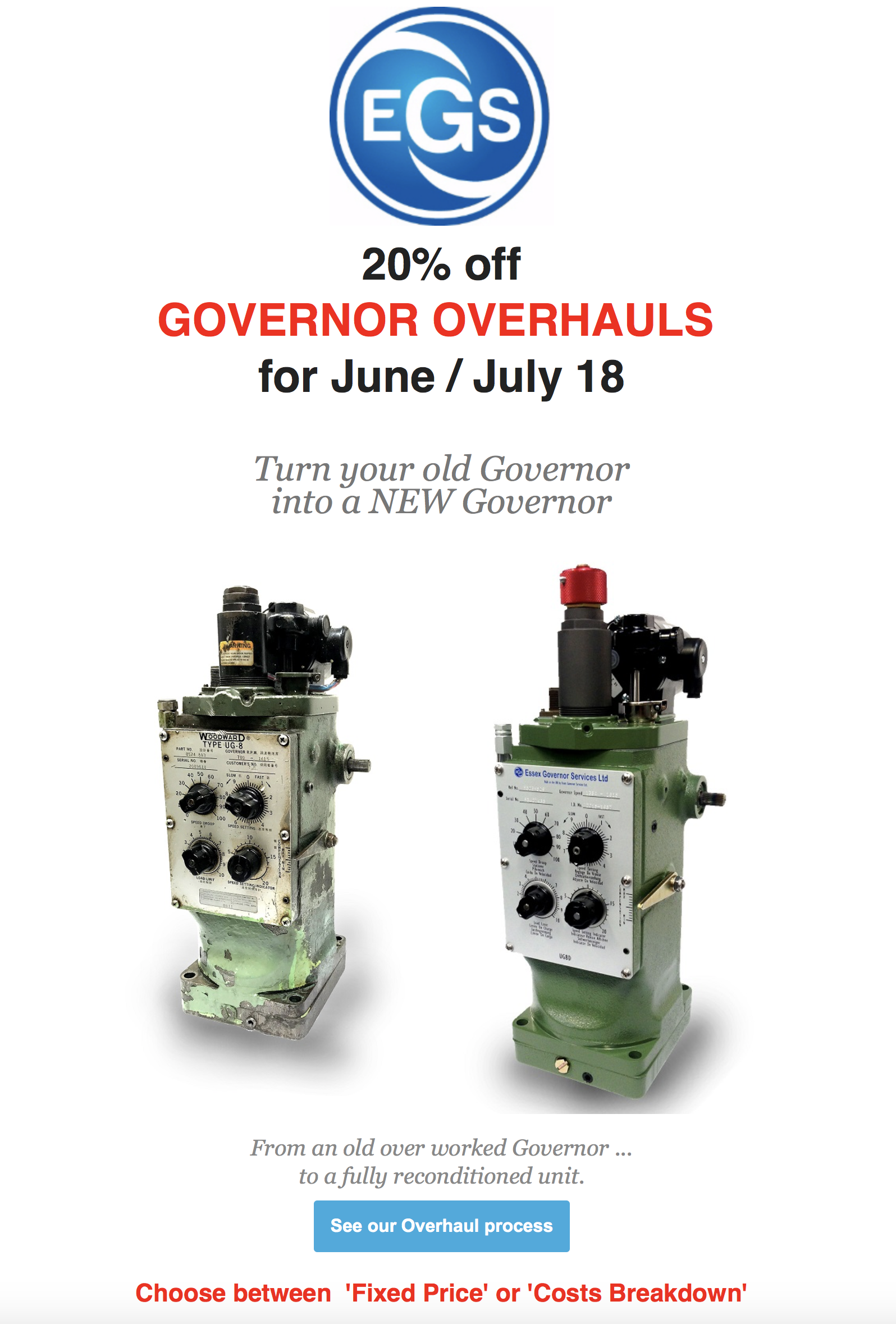 EGS Governor Overhauls special offers for June/July 2018