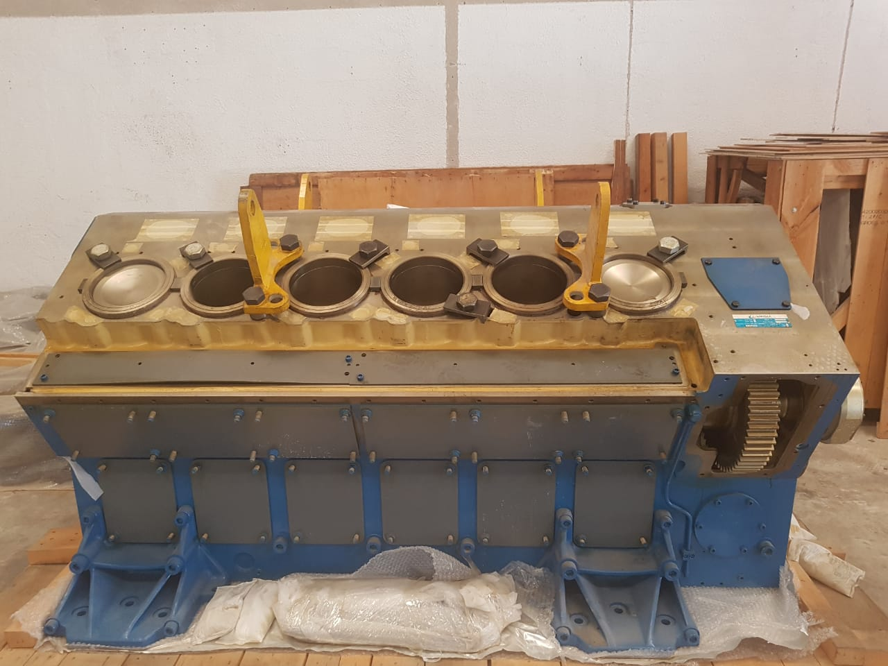 Featured Engine: Wartsila V220 2200KW gas/diesel engine unused 2009 build for sale