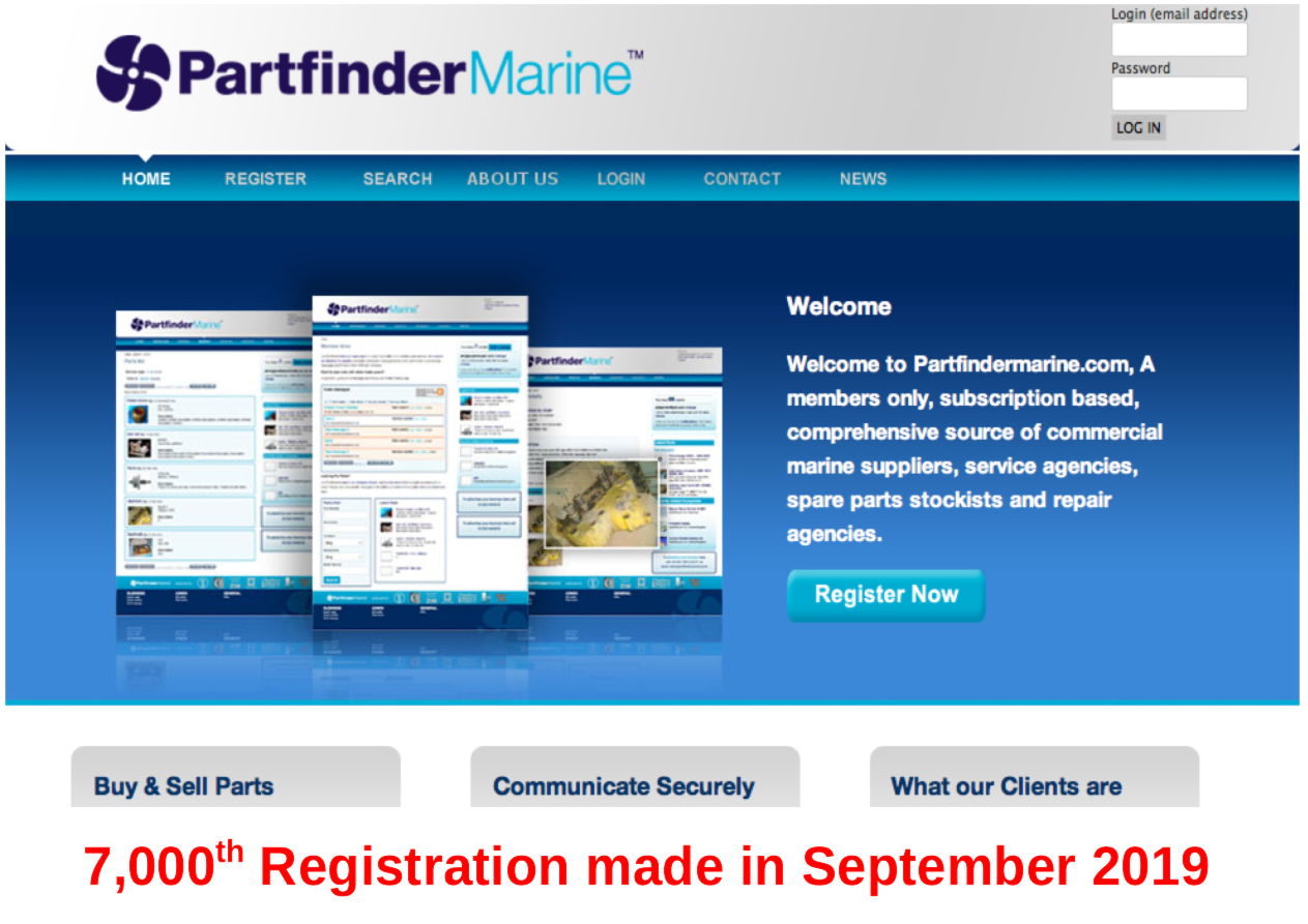 7,000 Registrations now made on Partfindermarine.com